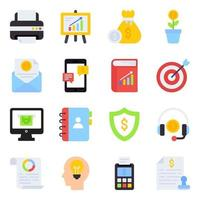Pack of Investment Flat Icons vector
