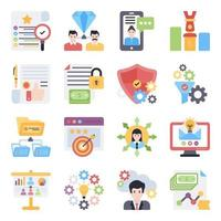 Pack of Business Flat Icons vector