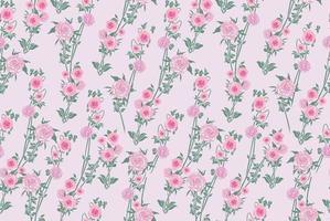 Floral seamless ornamental pattern. Gentle flower peony flourish texture. Abstract flourish garden bloom background vector