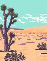 Joshua Tree in Tule Springs Fossil Beds National Monument near Las Vegas Clark County Nevada WPA Poster Art vector
