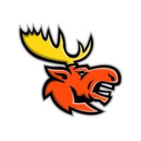 moose angry head side mascot vector