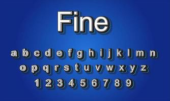 fine text alphabet vector