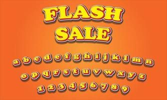Flash sale text alphabet vector