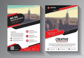 red flyer business template set vector