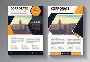 diseño de folletos, cubierta de diseño moderno vector