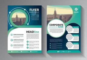 Business abstract vector template set