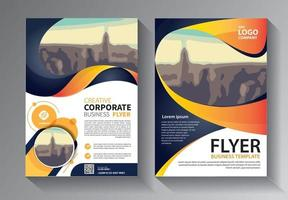 Brochure design, cover modern layout set vector