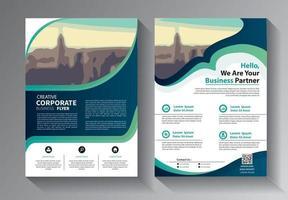 Brochure design, cover modern layout set vector