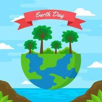 Earth Day Concept Design vector