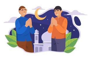 concepto de celebración de eid mubarak vector