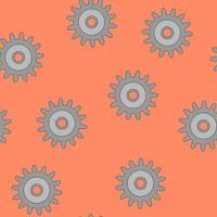 Seamless pattern with gears. Unusual vector background or technical illustration. For print or web.