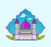 Islamic background with mosque vector