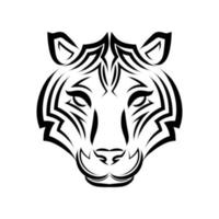 Line art vector of tiger head. Suitable for use as decoration or logo.