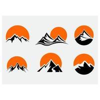 conjunto de iconos de montañas vector