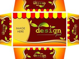 Packaging design for food vector