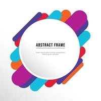 colorful frame vector background