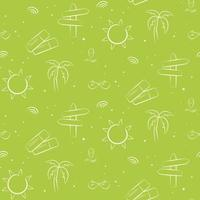 Seamless pattern with suns and palms. vector