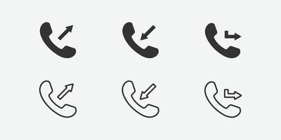 ilustración vectorial del icono de llamada vector
