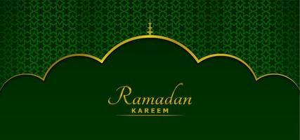 hermoso fondo verde de la plantilla de Ramadán vector