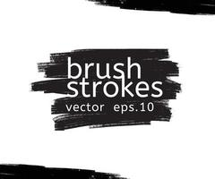 Vector grunge black paint, ink brush stroke, brush. Dirty artistic design element. Abstract black paint ink brush stroke for your design use frame or background for text. set - Vector