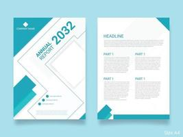 Business annual report template cover vector