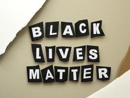 Black lives matter protest sign photo