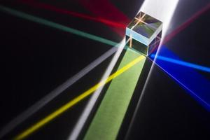 Colorful light prisms reflection background