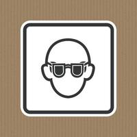 Symbol Wear Safety Glasses Sign Isolate On White Background,Vector Illustration EPS.10 vector