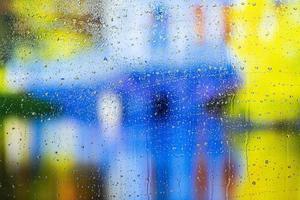Background rain drops close up photo