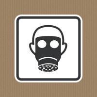 Symbol Wear Full Face Sign Isolate On White Background,Vector Illustration EPS.10 vector