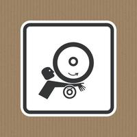 Arm in Rollers Symbol Sign Isolate On White Background,Vector Illustration EPS.10 vector