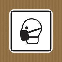 Symbol wear masks Sign Isolate On White Background,Vector Illustration EPS.10 vector