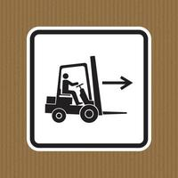 Forklift Point Right Symbol Sign Isolate On White Background,Vector Illustration EPS.10 vector