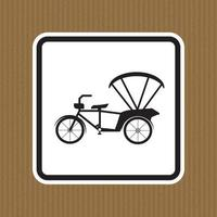 Beware Tricycle Symbol Sign Isolate On White Background,Vector Illustration EPS.10 vector