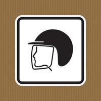 Use el símbolo del casco de seguridad aislar sobre fondo blanco, ilustración vectorial eps.10 vector