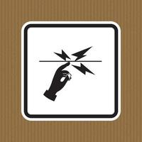 Do Not Touch Symbol Sign Isolate on White Background,Vector Illustration vector