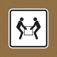 Use Two Person Lift Symbol Sign  Isolate On White Background,Vector Illustration EPS.10 vector