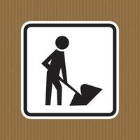 Men At Work Symbol Sign Isolate on White Background,Vector Illustration vector
