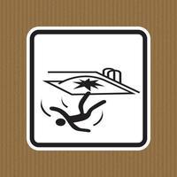 Fall Hazard Symbol Sign Isolate on White Background,Vector Illustration