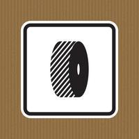 No cambie el signo del símbolo de las muelas aislar sobre fondo blanco, ilustración vectorial vector