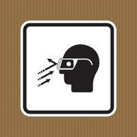 Flying Debris Wear Safety Glasses Symbol Sign Isolate on White Background,Vector Illustration vector