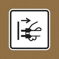 PPE Icon.Disconnect Mains Plug From Electrical Outlet Symbol Sign Isolate On White Background,Vector Illustration vector