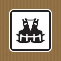 PPE Icon.Wearing a life jacket for safety Symbol Sign Isolate On White Background,Vector Illustration EPS.10 vector