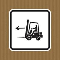 Forklift Point Left Symbol Sign Isolate On White Background,Vector Illustration vector