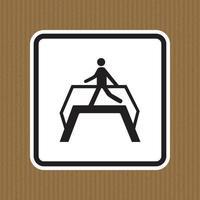 Use Footbridge Symbol Sign Isolate On White Background,Vector Illustration EPS.10 vector