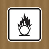Beware Oxidizing Substance Symbol Isolate On White Background,Vector Illustration EPS.10 vector