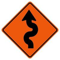 Winding Traffic Road Symbol Sign Isolate on White Background,Vector Illustration vector