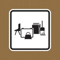 Keep Area Clear Symbol Sign Isolate on White Background,Vector Illustration vector
