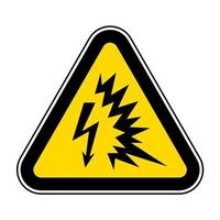 Arc Flash Symbol Sign Isolate On White Background,Vector Illustration EPS.10 vector