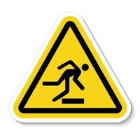 Beware Obstacles Symbol Sign Isolate On White Background,Vector Illustration vector